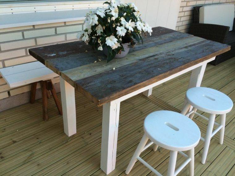 mesas para terraza diy insp rate para crear la tuya propia On mesas de madera para terraza
