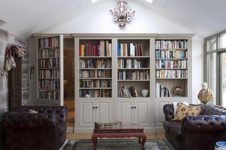 mueble biblioteca retro original puerta