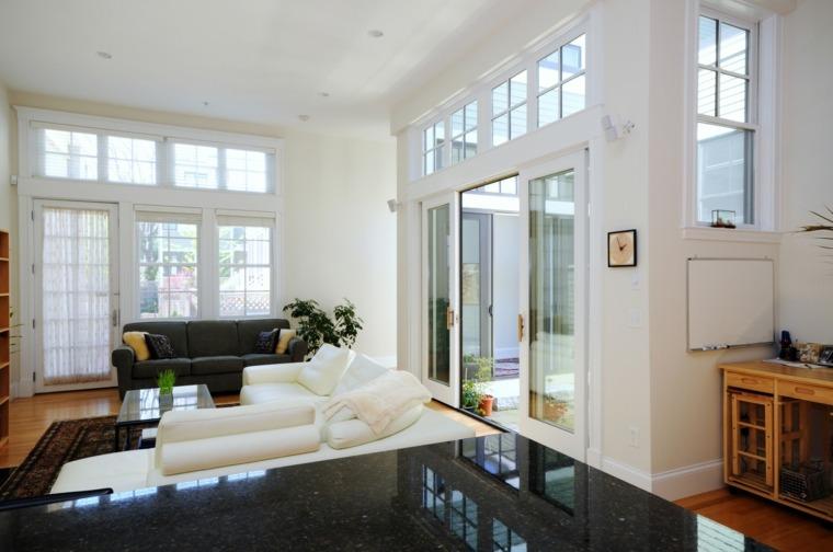 muebles diseño blancos color salon
