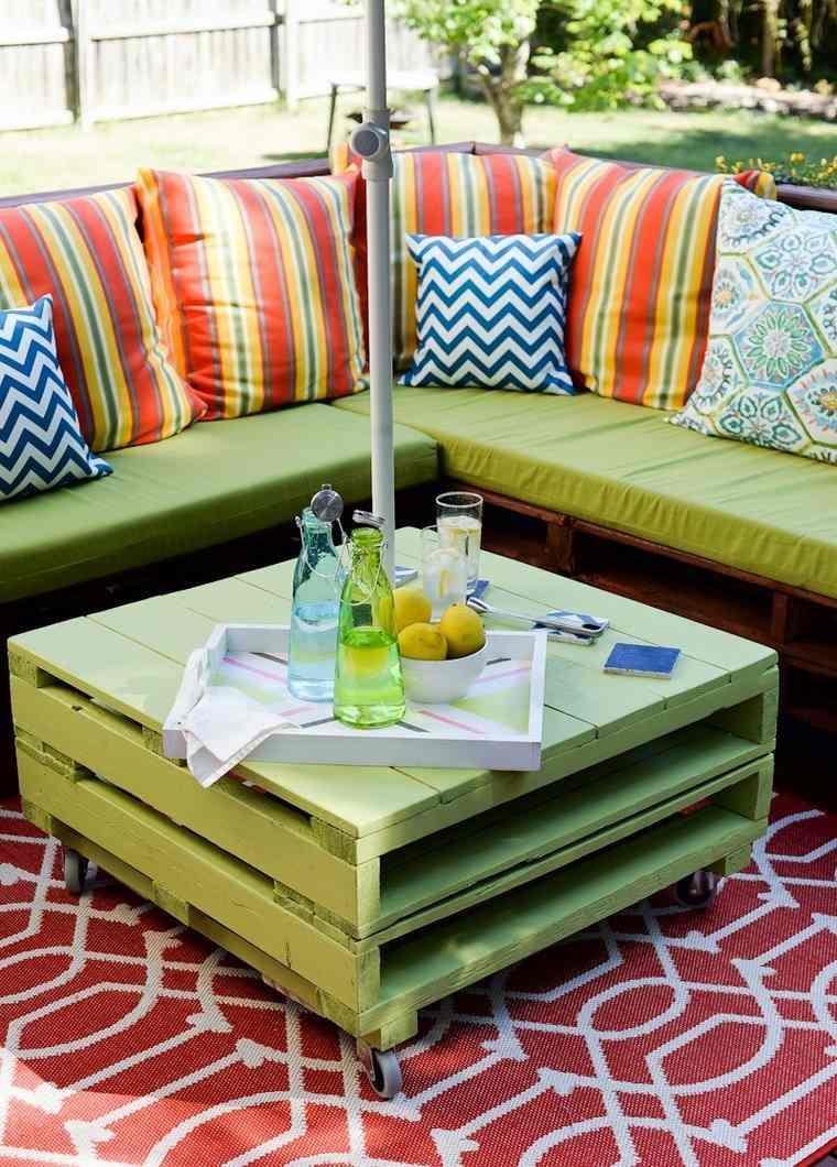 Muebles reciclados e ideas de muebles diy cuida el planeta - Mesa de palets bricolaje ...