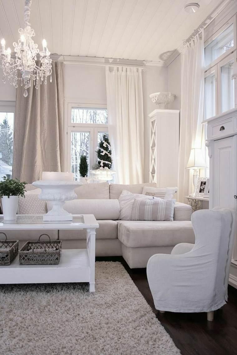 muebles clásicos color blanco