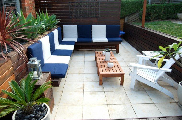 muebles madera terraza colores calidos ideas