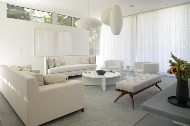 Salones en blanco descubra los 100 interiores m s modernos - Decorar muebles blancos ...