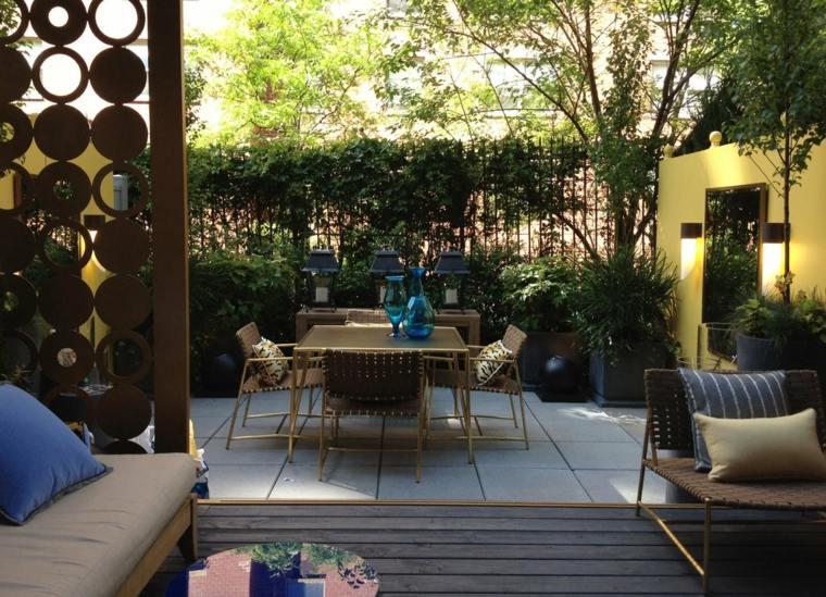 muebles modernos diseno jardin pequenos plantas ideas