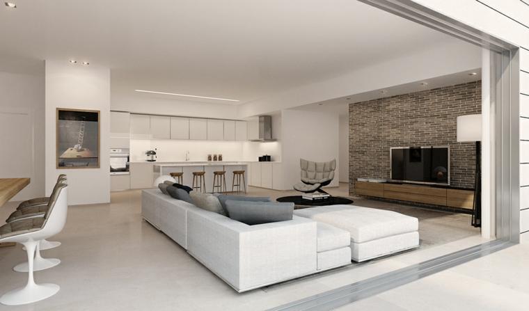 muebles modernos salon blanco estilo