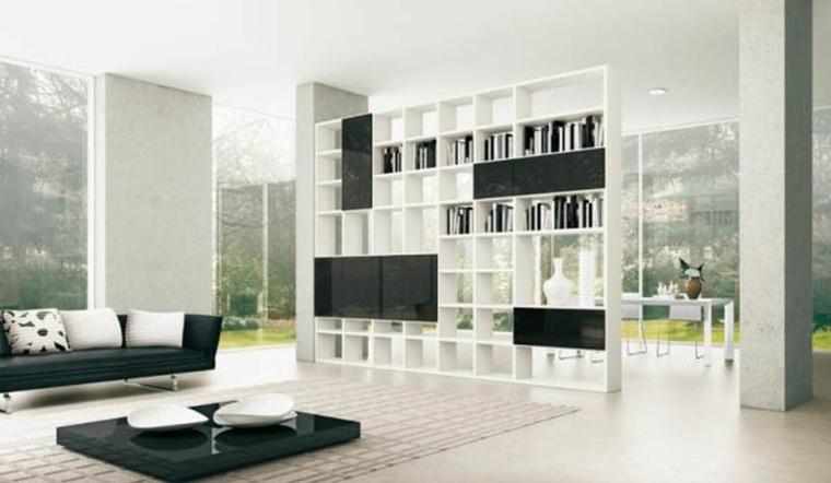 muebles salon deco blanco negro