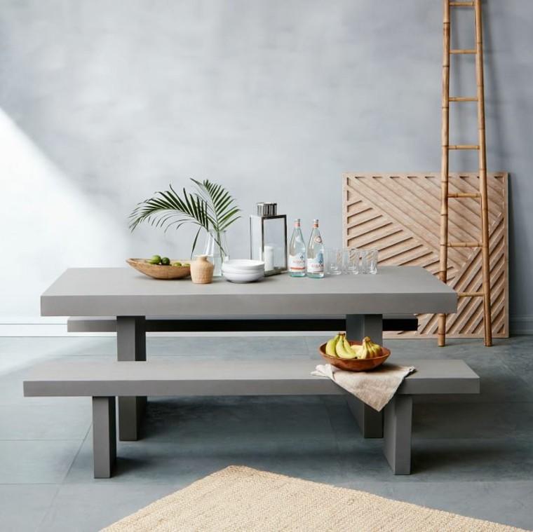muebles tejidos faroles aspectos mesa