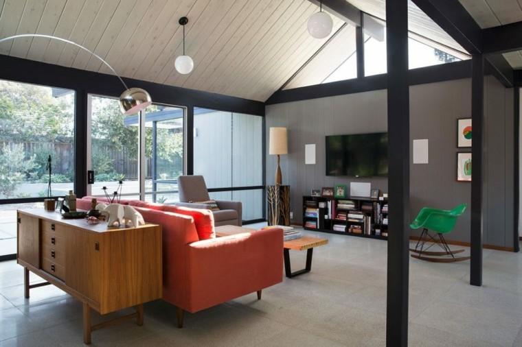 muebles vintage salon moderno disenado Klopf Architecture