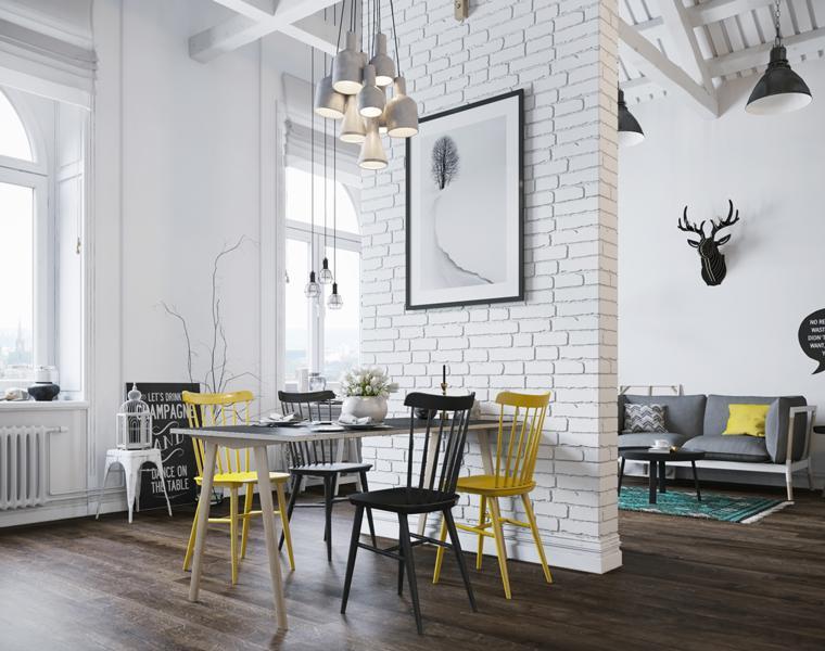apartamento moderno muro blanco