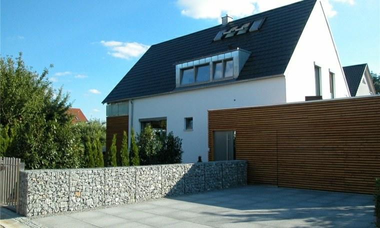 muro casa piedras moderno