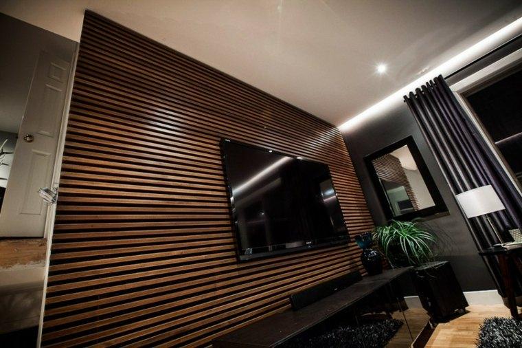 muro separador interior salon madera