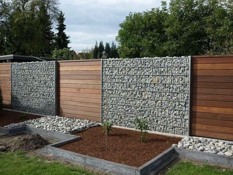 muro jardin valla gavion piedras