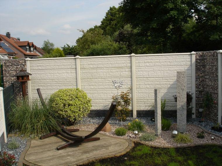gaviones decorativos para patios y jardines 34 ideas On vallas para muros