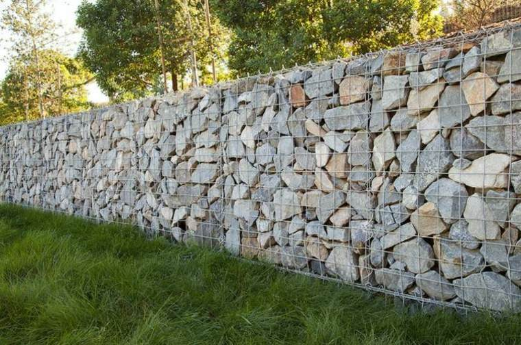 Gaviones decorativos para patios y jardines 34 ideas - Muros de piedra ...