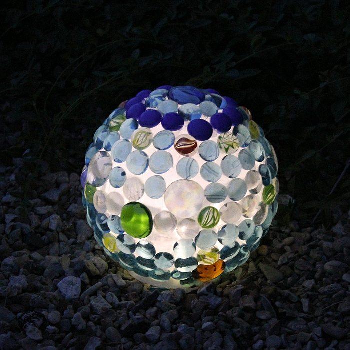 nocturno efecto lampara rocas lampara