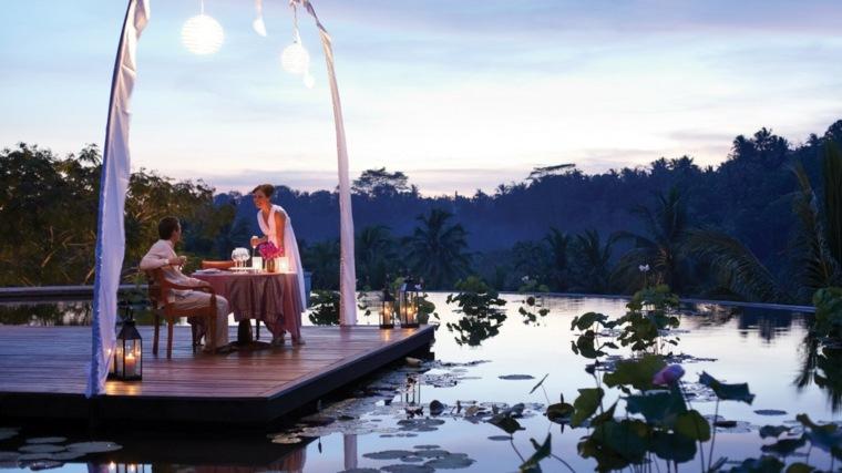 opciones diseno iluminacion terraza romantica ideas