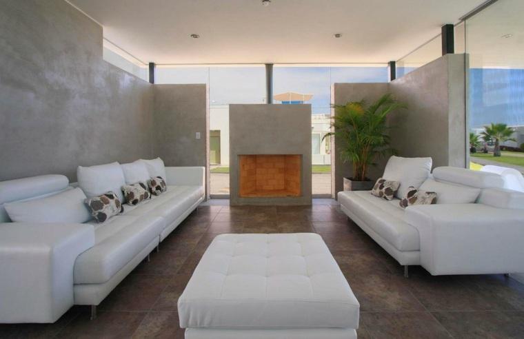 conjunto sofás color blanco