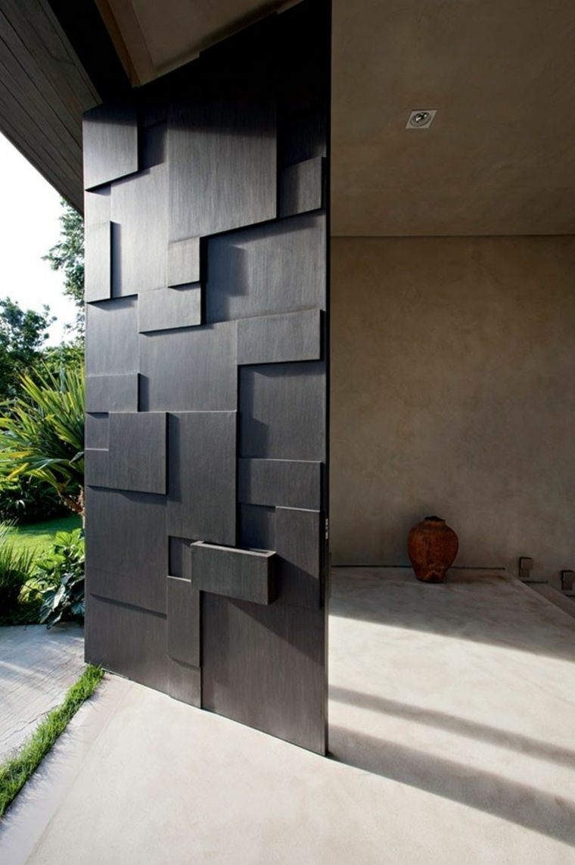 Puertas de entrada de dise o moderno rivas sanchez carpinteros - Arreglo de puertas de madera ...