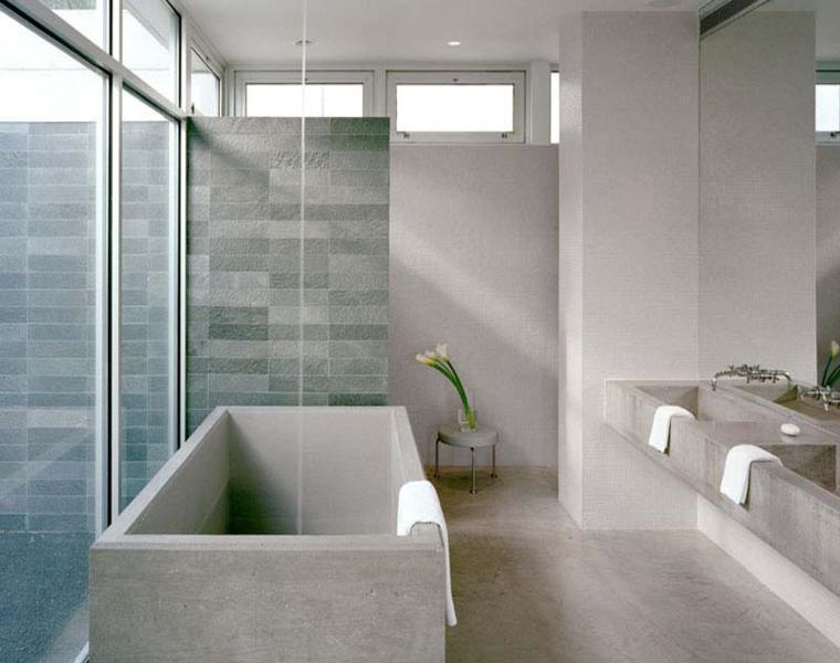 original bañera cemento independiente