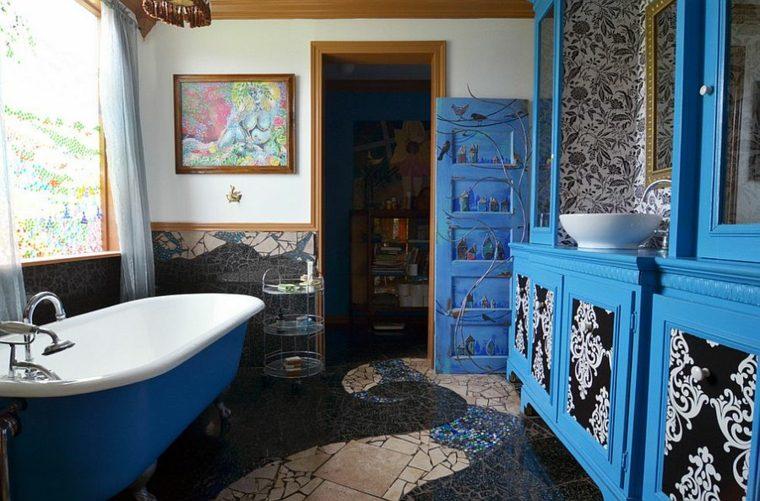 Baño Pequeno Original:original baño bano color azul