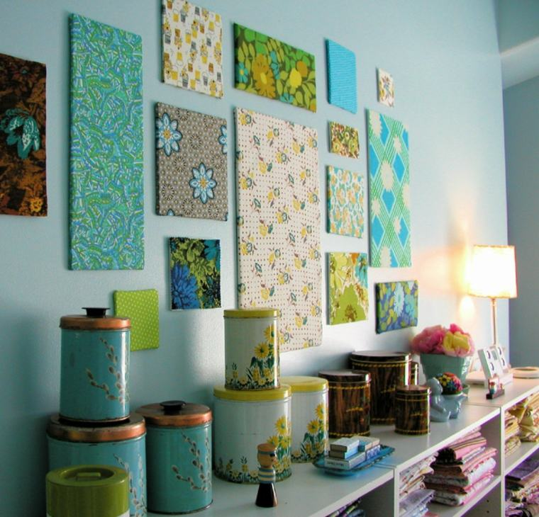 Tapices y decoraciones de pared con textiles 30 ideas - Decoraciones de paredes ...