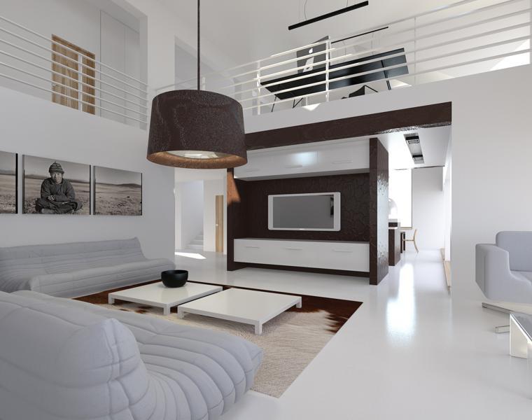 original salón moderno blanco