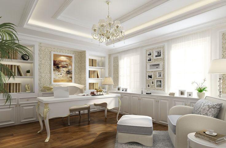 despacho estilo vintage blanco