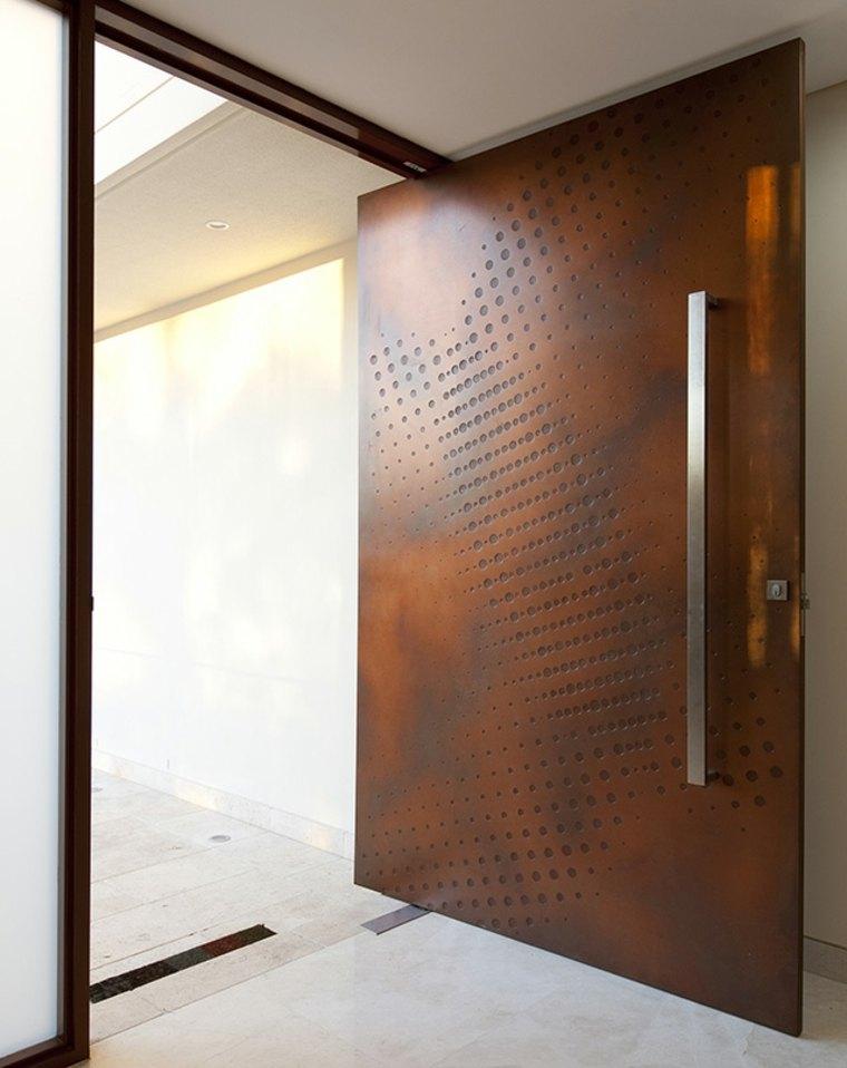 original diseño puerta circulos