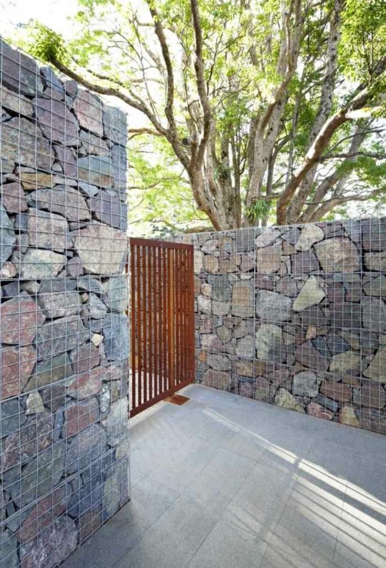 Gaviones decorativos para patios y jardines 34 ideas for Gaviones de piedra