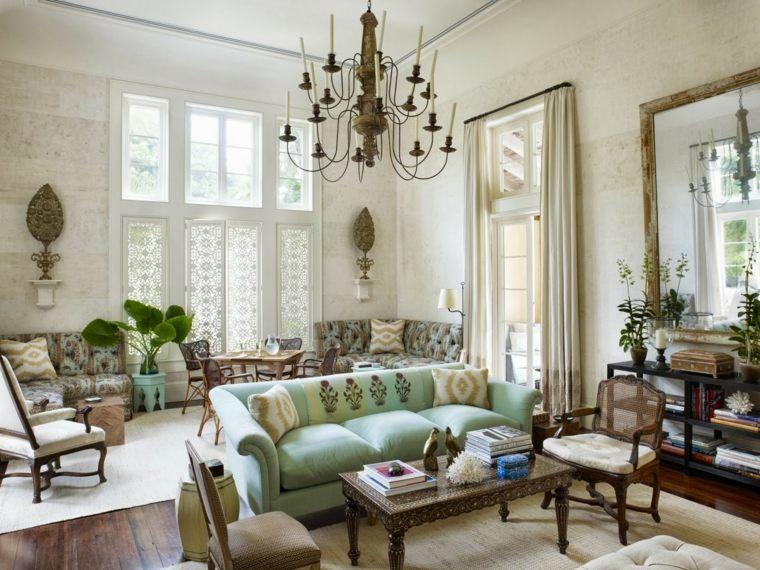 original diseno sofa vintage verde