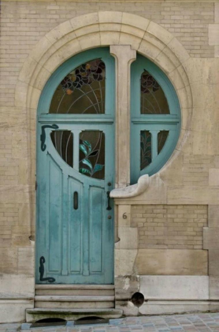 Puertas de entrada de dise o moderno 49 modelos for Puertas vintage