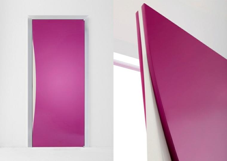 original puerta estilo minimalista rosa