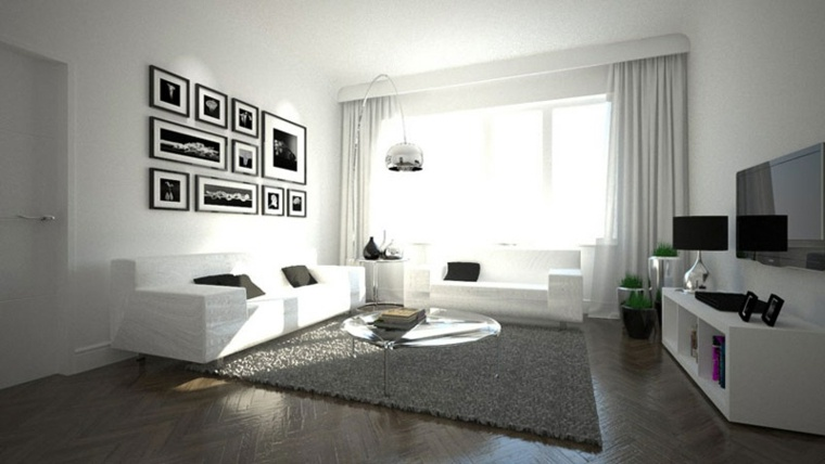 salones en blanco descubra los 100 interiores m s modernos. Black Bedroom Furniture Sets. Home Design Ideas