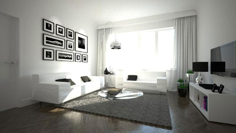 salones en blanco descubra los 100 interiores m s modernos. Black Bedroom Furniture Sets. Home Design Ideas