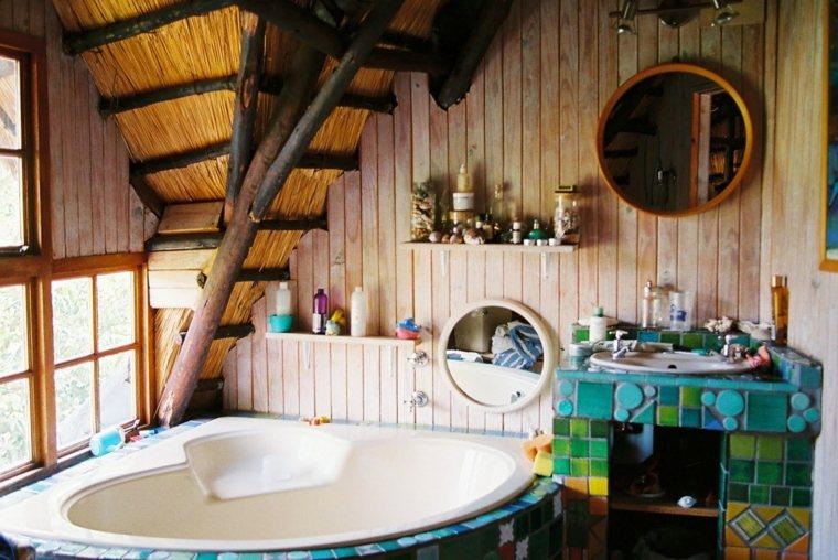 Baños Estilo Bohemio: bohemio con encanto que es claramente dominante en este diseño