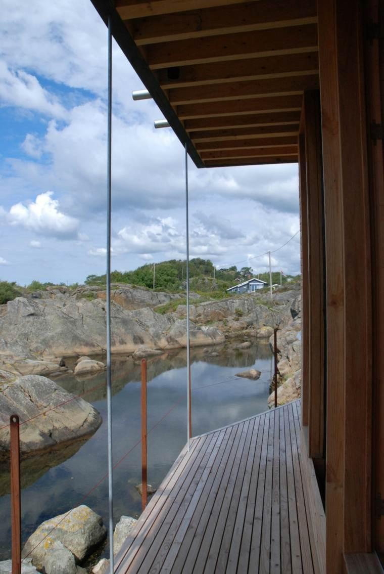 original vista terraza agua rocas