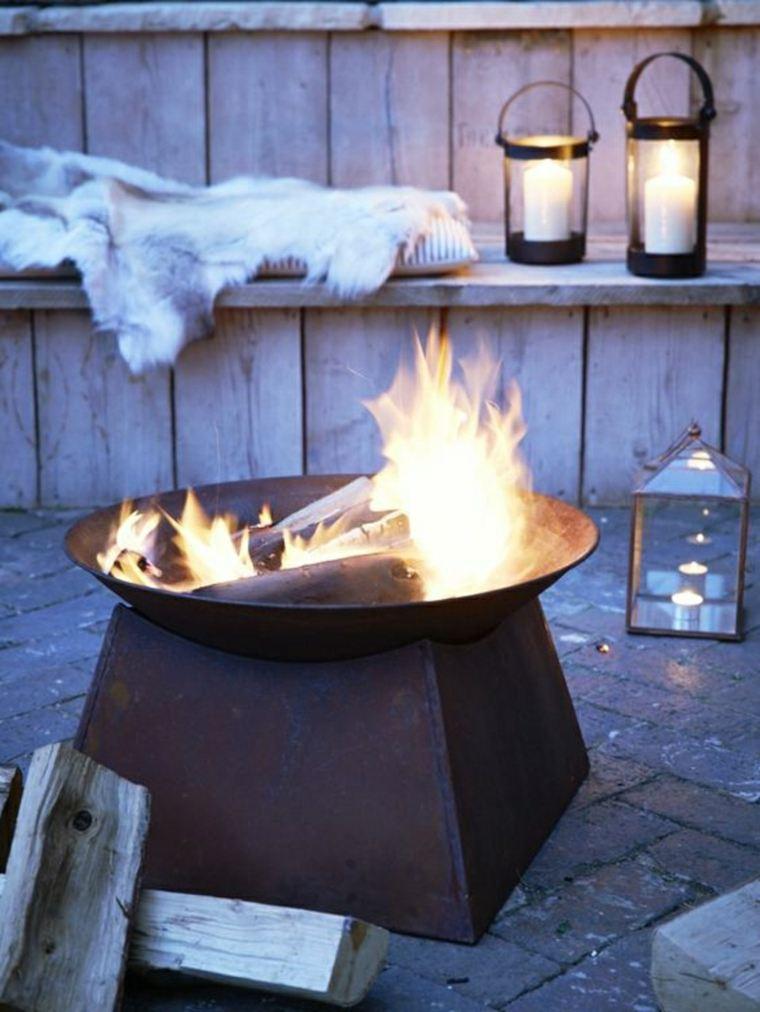 Pozo de fuego en el jard n consejos para su construcci n - Chimeneas de acero ...