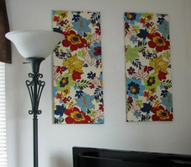 Tapices y decoraciones de pared con textiles 30 ideas - Ideas decoracion paredes ...