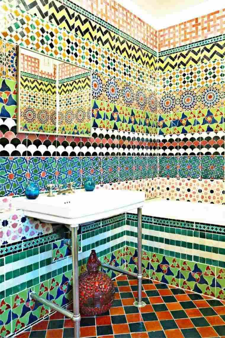originales azulejos bano colores