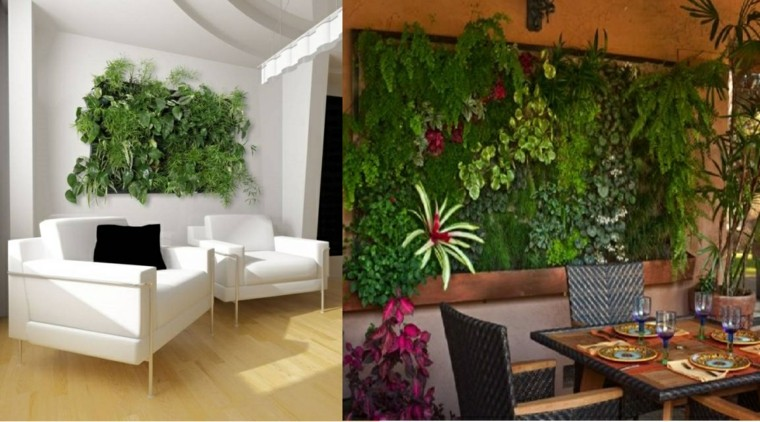 Ideas para jardines verticales veinticuatro dise os for Jardin artificial interior
