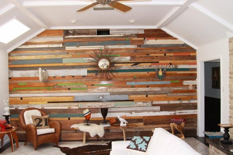 pared lisnones madera natural reciclada