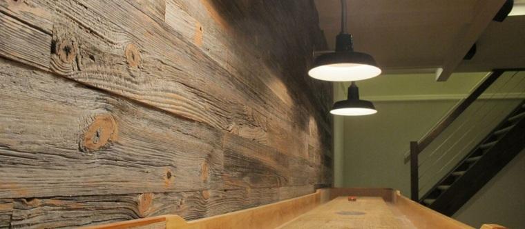 Revestimiento de paredes interiores con madera 34 ideas for Laminas de madera para forrar paredes