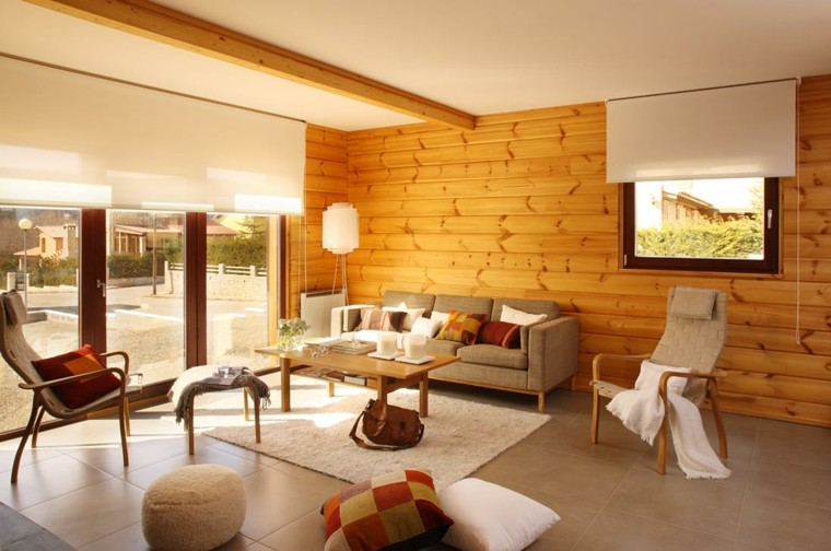 Revestimiento de paredes interiores con madera 34 ideas for Decoracion para inmobiliarias