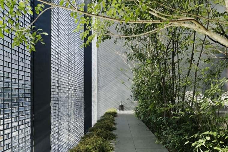 paredes interiores lamparas senderos grises