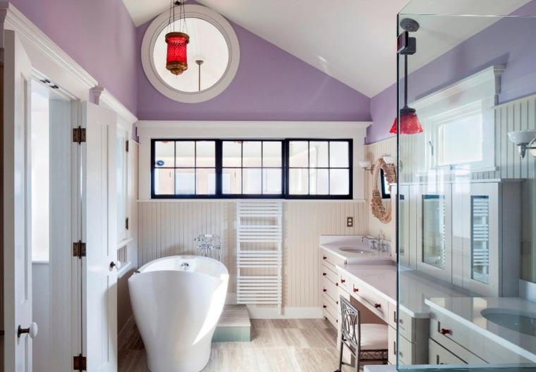 paredes color lavanda color bano