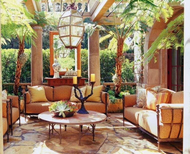 Decoración romántica y moderna para jardín y terraza -