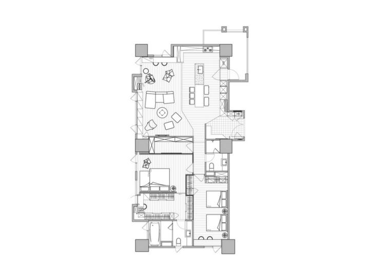 plano casa apartamento estilo moderno