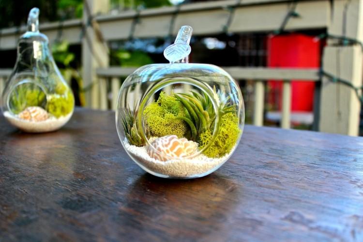 plantas diseño cristales bolas muebles mesas