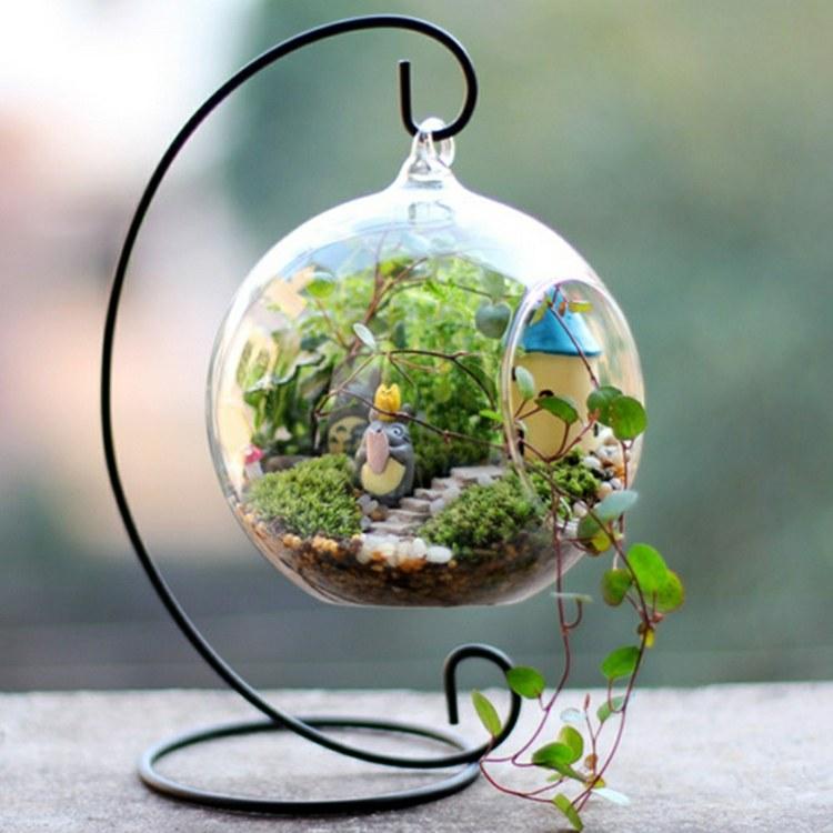 Plantas dise o de terrario para ambientes incre bles - Boule en verre pour plante ...
