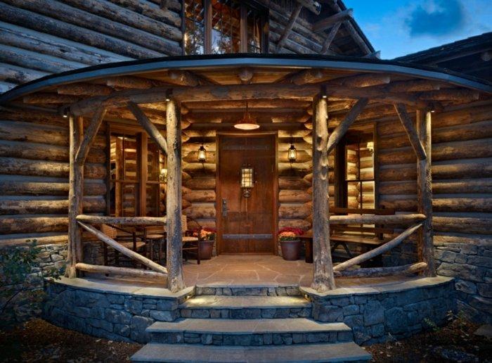 Porches r sticos 24 dise os inspiradores - Porches de casas rusticas ...